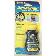 Gelbe Aquachek Tester 4 in 1 für Chlor