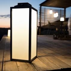 Traditionelle Solar Lampe aus Aluminium 40cm Les Jardins