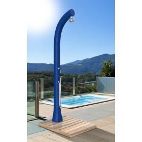 Sol en bois Okume de douche solaire