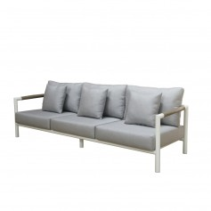 BASTINGAGE 3-Sitzer-Aluminiumsofa mit Duratek-Armlehnen