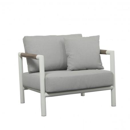 BASTINGAGE breiter Aluminium-Sessel mit Duratek-Armlehnen