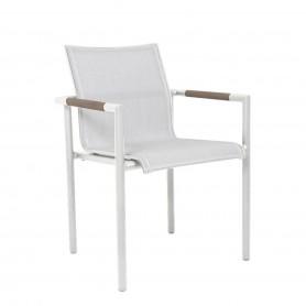 BASTINGAGE Aluminium Sessel - Duratek Armlehnen, Ateja Stoff