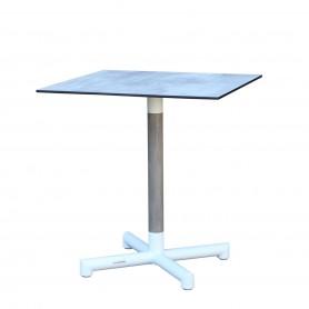BASTINGAGE Tisch mit zentraler Aluminiumbasis - Duratek Einsätze