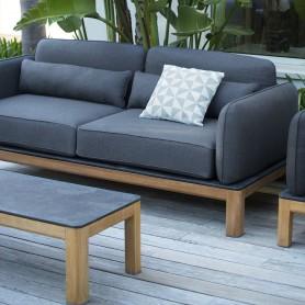 TEKURA Sofa aus Teakholz - Sunbrella Sitz