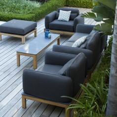 TEKURA Sessel aus Teakholz - Sunbrella Sitz