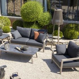COPENHAGUE 2-Sitzer Durateck Sofa - Sunbrella Graphito Sitz