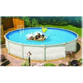 Vogue Discovery 5.49m oberirdischer Pool aus rundem Stahl