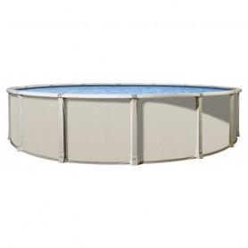 Vogue Panama beige runder Stahl oberirdischer Pooldurchmesser 4,57 m x ht 1,32 m