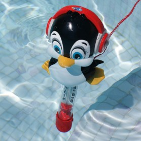 Penguin pool thermometer