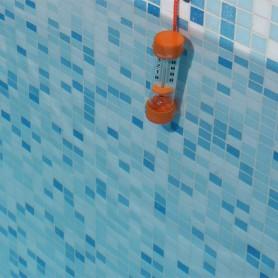 Tauchrohr-Schwimmbadthermometer: Orange, blau oder grün, je nach Lagerbestand