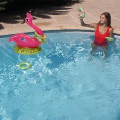 Flamingo-Wurfspiel für Schwimmbad Kerlis