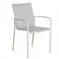 Stapelbarer Sessel KOTON mit hoher Rückenlehne