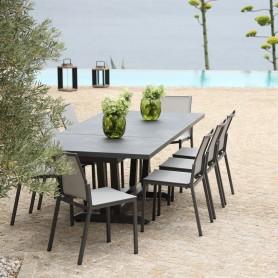 AMAKA ausziehbarer Tisch 8/10 Sitzplätze 162-244cm Keramikplatte