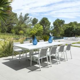 AMAKA ausziehbarer Tisch 10/12 platziert 200-300cm Lattenplatte