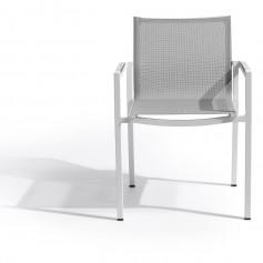 AMAKA stapelbarer Sessel mit HPL Armlehneneinsätzen