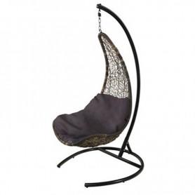 Schwarz Metall Stuhl hängen